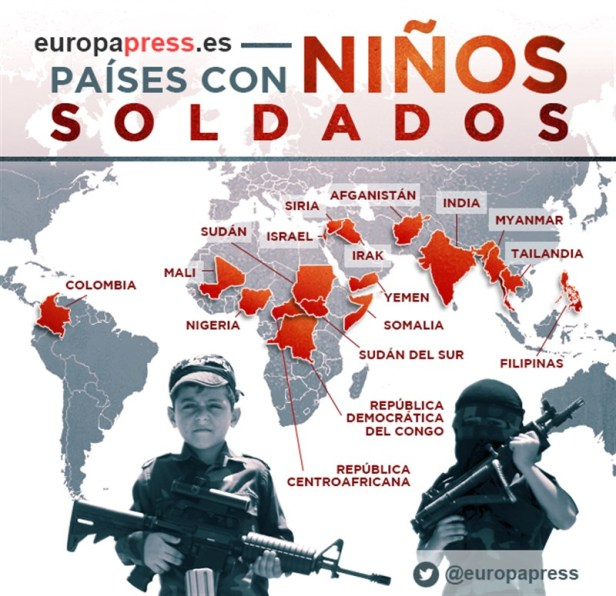mapa niños soldado europa press