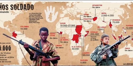 mapa niños soldado